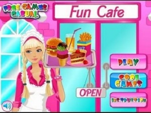 Games Barbie Fun Cafe